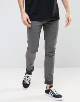 Solid Washed Black Skinny Fit Jeans With Stretch