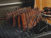 Charcoal Companion 15.5x9.5x5.2-in. Reversible Roasting Rack, Black