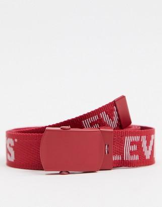 Levi's tickfaw logo belt in red