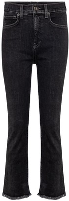 Veronica Beard Carly cropped kick-flare jeans