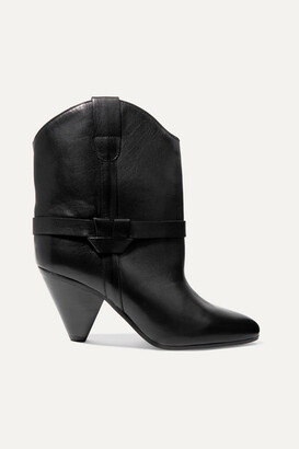 Isabel Marant Deane Leather Ankle Boots - Black
