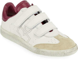 Isabel Marant Beth Perforated Leather Grip-Strap Sneakers