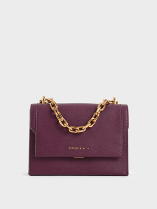 Charles & Keith Chain Handle Evening Bag