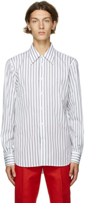 Alexander McQueen White Striped Logo Shirt