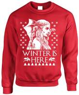 Allntrends Adult Crewneck Winter Is Here Ugly Christmas Sweater Khalessi Top (S, )