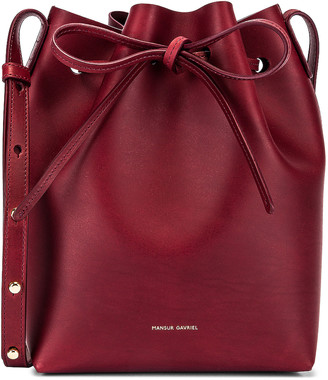 Mansur Gavriel Mini Bucket Bag in Bordo | FWRD