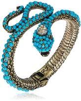 Betsey Johnson Mystic Baroque Queens Blue Snake Hinge Cuff Bracelet
