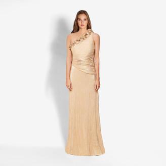 Rachel Zoe The Jackie Gold Plise Gown