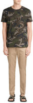 Valentino Embroidered Cotton Camo Print T-Shirt
