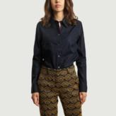 Ines De La Fressange Paris - Navy Blue Cotton Martin Shirt - 36 | cotton | navy blue - Navy blue