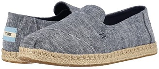 Toms Deconstructed Alpargata Rope (Navy Chambray) Women's Slip on Shoes