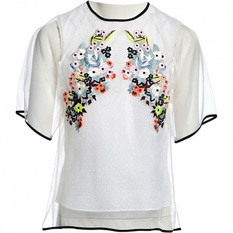 Erdem White Silk Top for Women