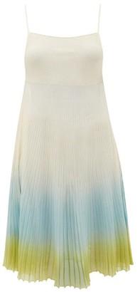 Jacquemus Helado Ombre Cotton-blend Dress - Blue Multi