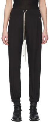 Rick Owens Black Silk Crepe Lounge Pants