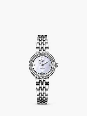 Rotary Women's Kensington Crystal Bracelet Strap Watch