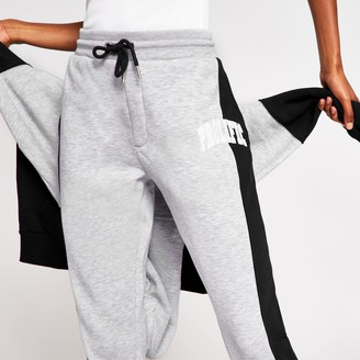 River Island Womens Navy Prolific colour block joggers