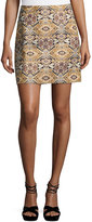 Laundry by Shelli Segal Tapestry-Print Brocade Skirt, Black