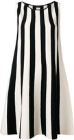 Roberto Collina striped flared dress - women - Polyester/Viscose - M