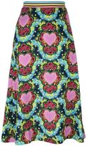 House of Holland Heart A-line midi skirt - women - Polyester - 10