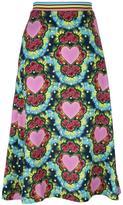 House of Holland Heart A-line midi skirt