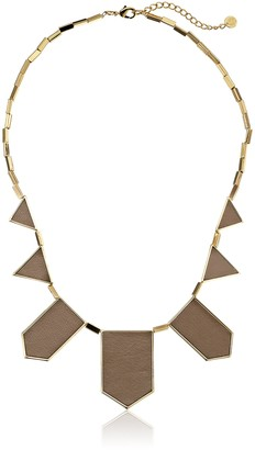 House Of Harlow Gold-Plated Station Leather Necklace
