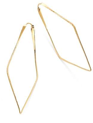 Moon & Meadow Hammered Geometric Hoop Earrings in 14K Yellow Gold - 100% Exclusive