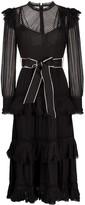 Zimmermann Wavelength tiered midi dress