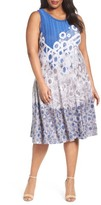 Nic+Zoe Plus Size Women's Rain Drops Twirl Dress