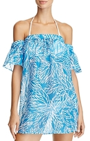 Milly Flutter Sleeve Swim Cover-Up Dress