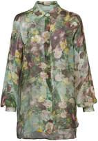 Alberta Ferretti sheer floral printed shirt