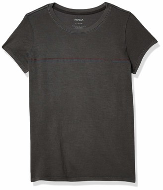 RVCA Junior's United Stripe Short Sleeve Crew Neck T-Shirt