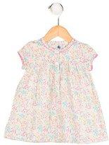 Petit Bateau Girls' Floral Print Short Sleeve Dress