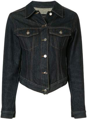 Gucci Pre-Owned pointed front denim jacket
