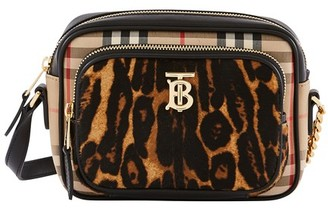 Burberry Leopard Vintage Check small camera bag