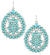 Natasha Accessories Teardrop Turquoise Statement Earrings