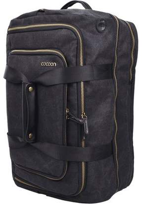 """Cocoon Urban Adventure Carrying Case (Backpack) for 17"""" Notebook - Black - Water Resistant Exterior - Waxed Canvas - Shoulder Strap, Handle"""