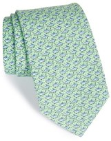 Vineyard Vines Men's Shark Print Silk Tie
