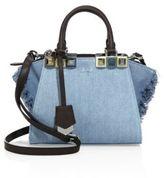 Fendi 2Jours Fringed Denim Shopping Bag