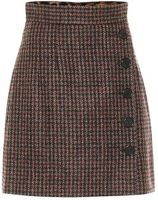 Dolce & Gabbana Tweed wool and alpaca-blend miniskirt