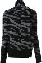 Edun jacquard draped wrap sweater