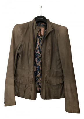 Silvian Heach Green Leather Leather jackets