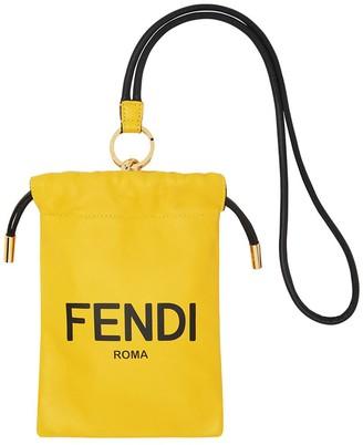 Fendi Logo Print Phone Pouch