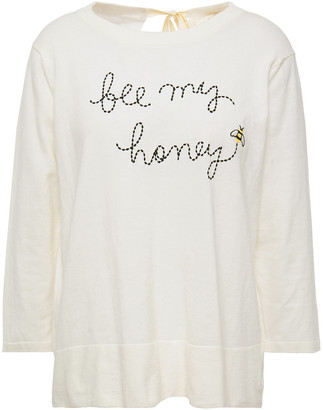 Kate Spade Broome Street Embroidered Cotton-blend Sweater