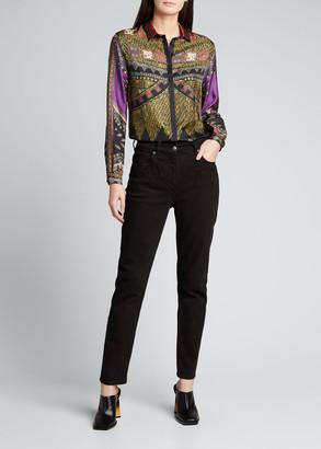 Etro Printed Button-Down Silk Shirt