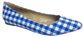 Penny Loves Kenny Blue & White Gingham Aaron II Ballet Flat