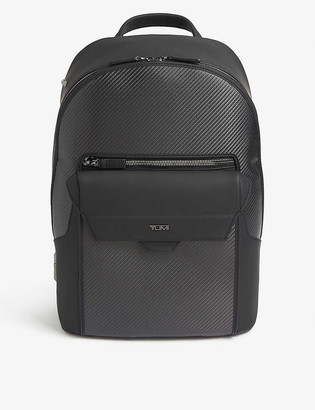 Tumi Marlow leather-trimmed backpack