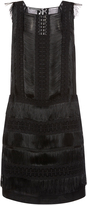 Alberta Ferretti Sleeveless Fringe Shift Dress