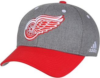 adidas Men's Gray Detroit Red Wings Two-Tone Structured Adjustable Hat