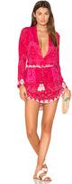 Rococo Sand Plunging Mini Dress