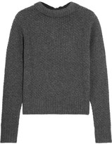 Frame Textured Wool And Cashmere-blend Sweater - Dark gray